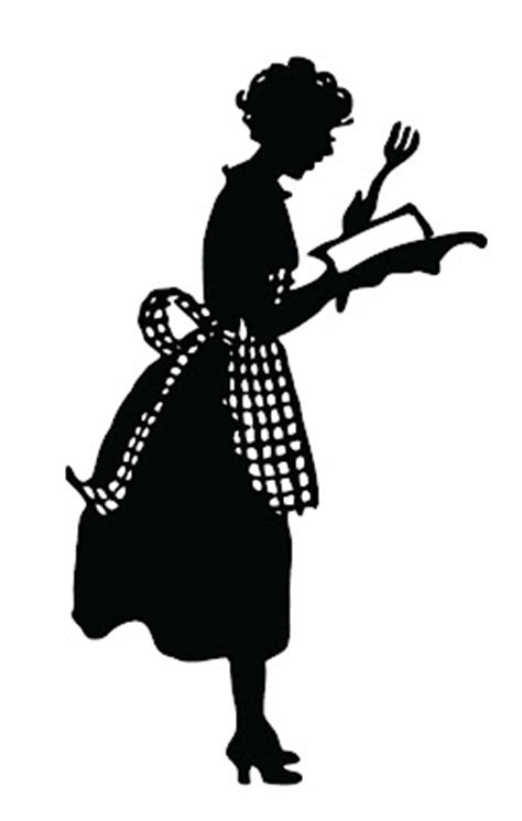 vintage silhouette cute lady  apron  graphics fairy
