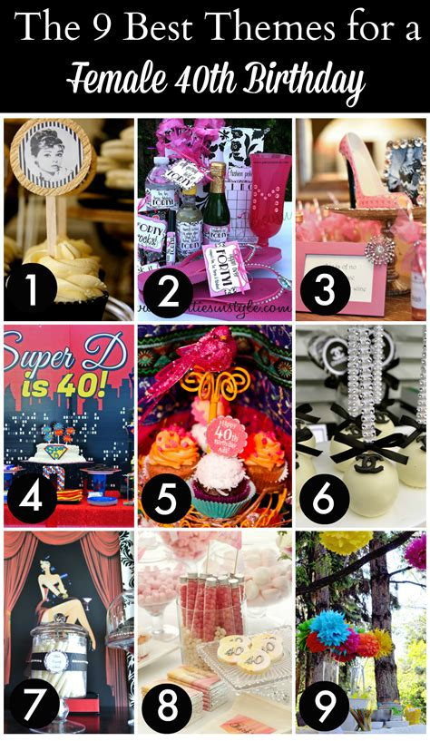 Take a look at the 12 BEST 40th Birthday Themes for Women