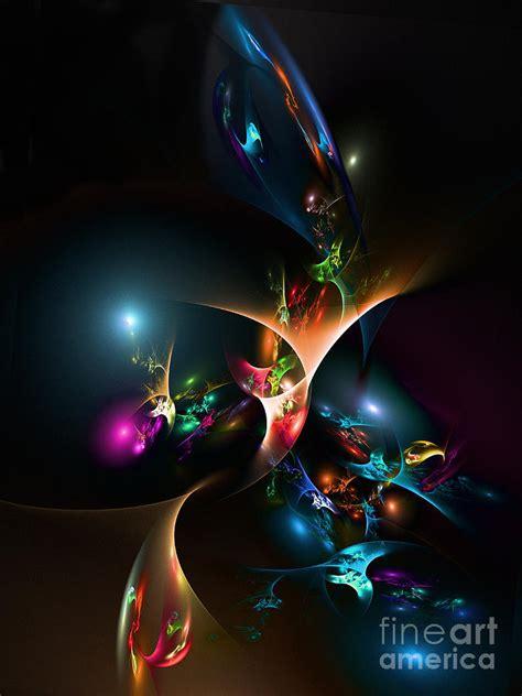 exotic flower digital art by klara acel