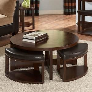 furniture burlap ottoman ainove round ottoman coffee With circle storage coffee table