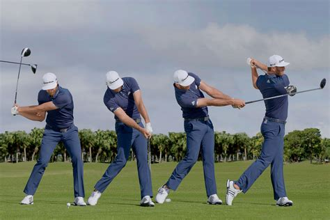 golf swing sequence swing sequence dustin johnson new zealand golf digest