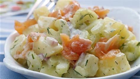 salade de pommes de terre au saumon fum 233 au c 233 leri et aux