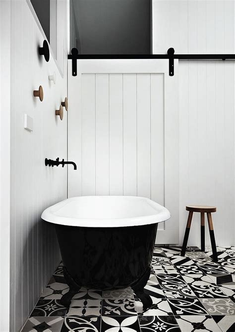 bathroom tile ideas black and white lovely use of mismatched black and white floor tiles in