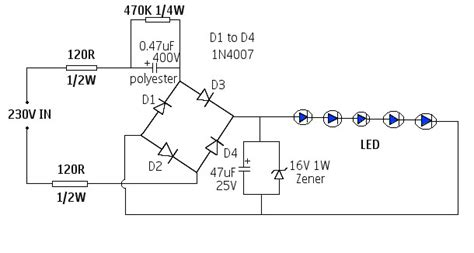 High Voltage Led Driver Circuit Without Transformer