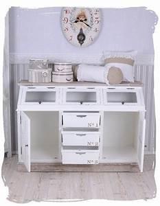 Sideboard Weiß Vintage : vintage anrichte sideboard weiss schrank shabby chic wandschrank antik k niglich ~ Frokenaadalensverden.com Haus und Dekorationen