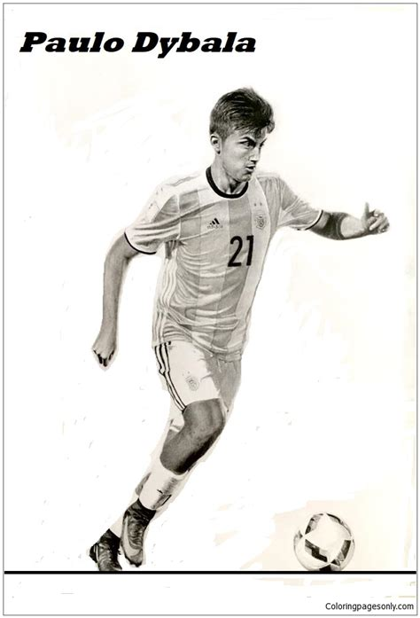 paulo dybala image  coloring page  coloring pages