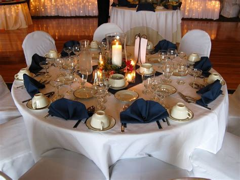 navy blue  white wedding table decorations google