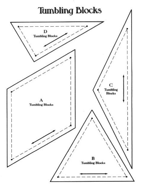 tumbling block quilt pattern template tumbling blocks quilts tutorials and patterns