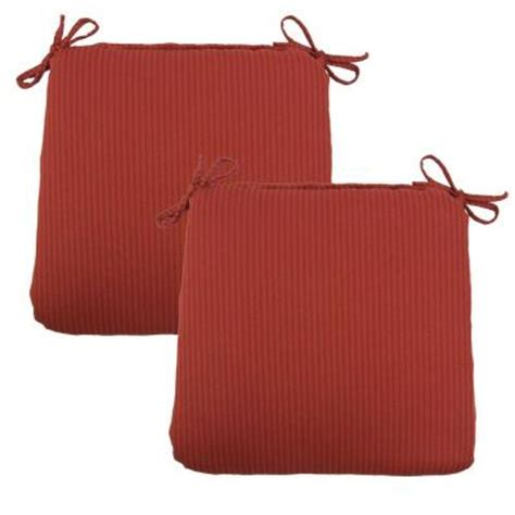 hton bay chili solid outdoor chair cushion 2 pack