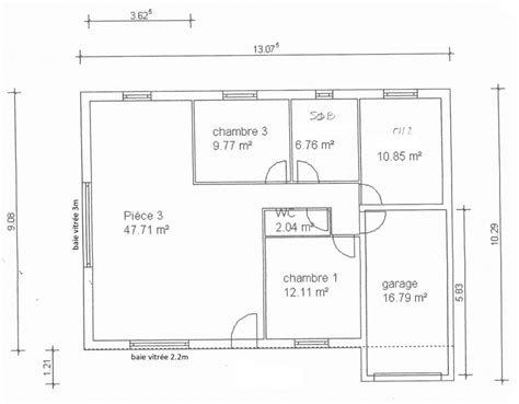 plan maison plain pied 3 chambres gratuit plan maison 90m2 plain pied