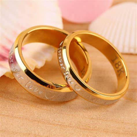 usa 2pcs 18k rose gold forever love couple engagement promise wedding ring ebay