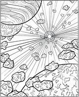 Coloring Space Pages Printable Adults Print Dover Outer Colouring Sheets Creative Haven Publications Adult Galaxy Doverpublications Skyscapes Planet Everfreecoloring Play sketch template