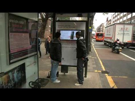 Jcdecaux Innovate Touchscreen Bus Shelters Youtube