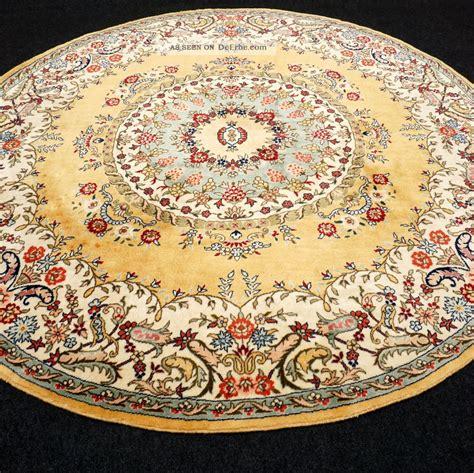 feiner orient teppich gelb 200 x 200 cm rund perserteppich alt carpet rug