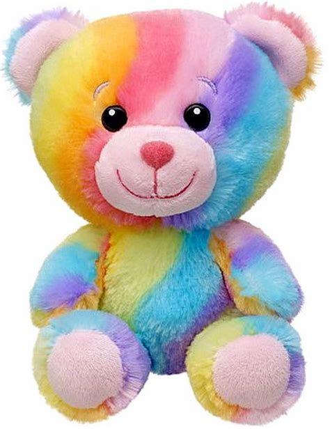 New Build A Bear Colorful Rainbow Hugs Baby Buddies Teddy 7 In Mini Plush Toy Animal In Stock