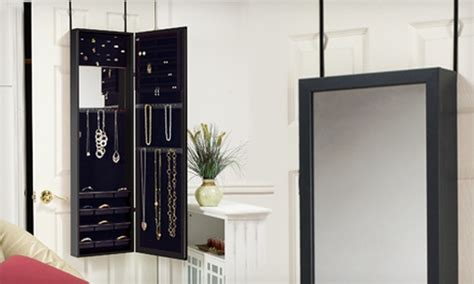 the door mirrored jewelry armoire 99 for a hanging mirrored jewelry armoire groupon