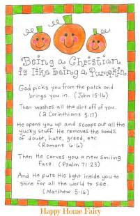 being a christian is like being a pumpkin free printable happy home