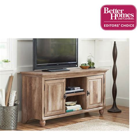 better homes and gardens crossmill collection tv stand for