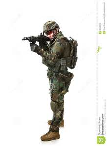 Army Soldier in Full Combat Gear
