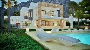 beautiful maison moderne de luxe interieur contemporary With marvelous modele de maison en l 6 maison neuve