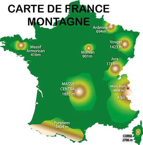 Carte De Avec Villes Fleuves Et Montagnes by Info Carte
