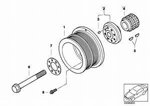 Original Parts For E66 745li N62 Sedan    Engine   Belt Drive Vibration Damper