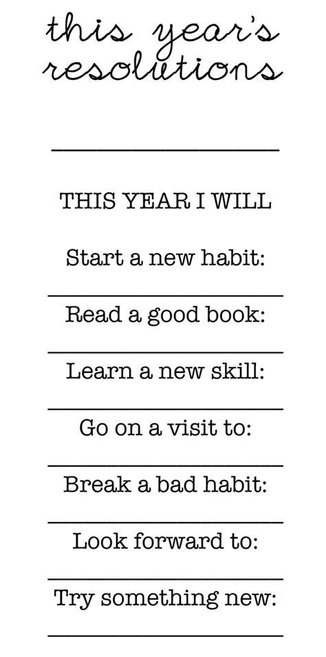 new year resolutions printable kid free free printable family new year resolutions modern parents