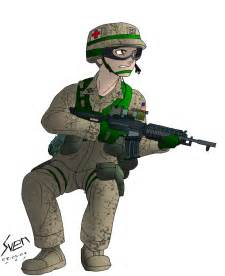 Anime Army Soldier