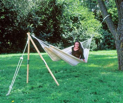 Hängematte Aufhängen Ohne Baum by Tripod Hammock Stand Garden Teak