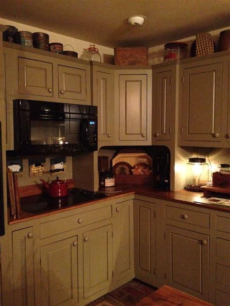 primitive painted kitchen cabinets