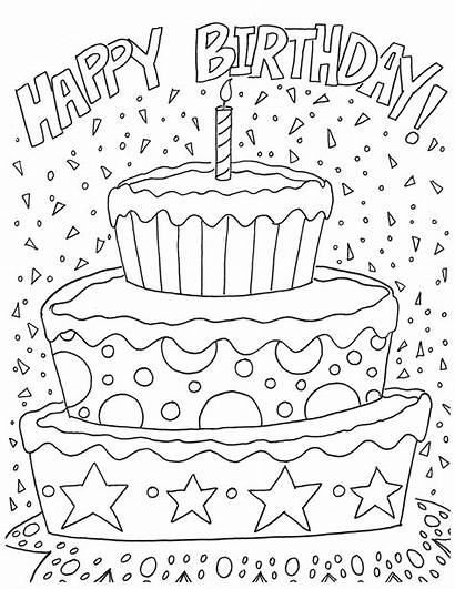 Coloring Birthday Happy Pages