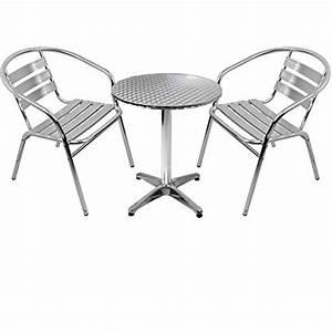 Gartenmöbel 3er Set : 3er set gartenm bel gartengarnitur aluminium bistrogarnitur bistrotisch stehtisch 60cm ~ Indierocktalk.com Haus und Dekorationen