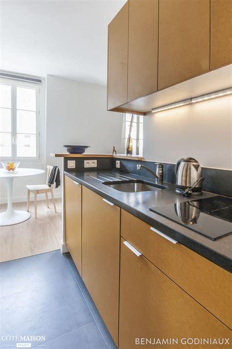 cuisine en longueur ouverte une cuisine ouverte en longueur et en bois cuisine