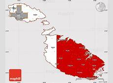 Flag Simple Map of Malta