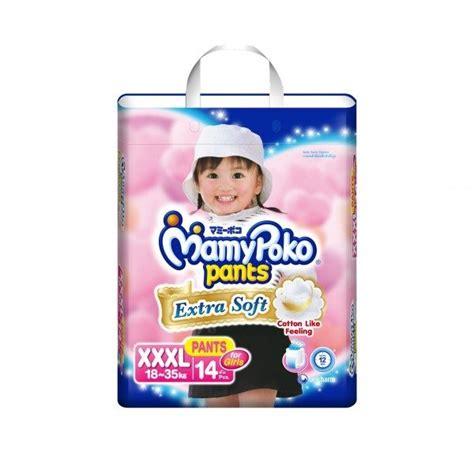 Mamy Poko Extra Soft Pants Diaper For Girls Xxxl 14s