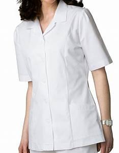 Adar 605 Universal Women 39 S Two Pocket Lapel Collared White