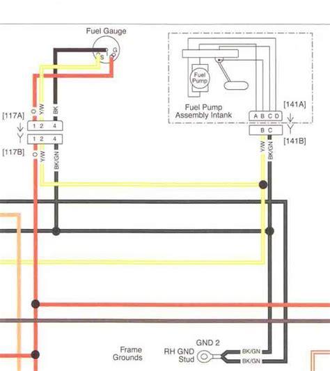 Harley Fuel Wiring Diagram by 08 Fuel Sender Wiring Help Harley Davidson Forums