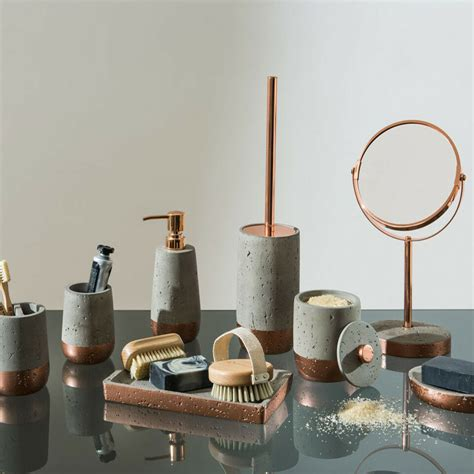 Modern Copper Bathroom Accessories by Neptune Bathroom Accessories Copper Concrete Soap