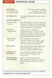 chronological order of education on resume resume exles resume and chronological resume template on