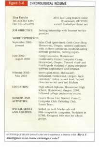 resume written in chronological order resume exles resume and chronological resume template on