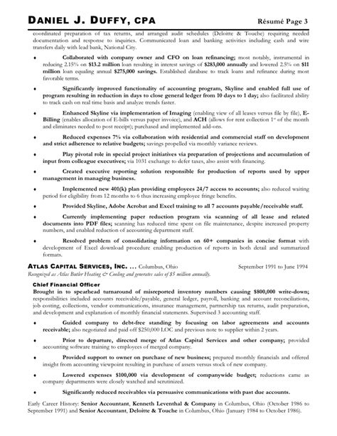 Deloitte Audit Intern Resume by Duffy Daniel J Current Resume