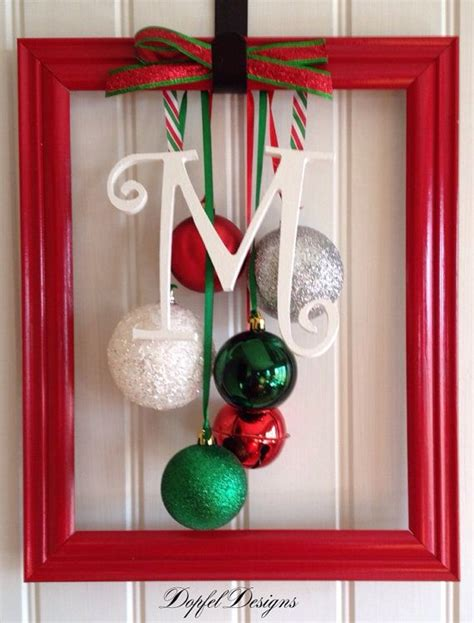 whimsical christmas ornament frame on etsy 25 00
