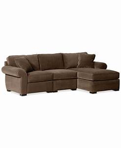 Trevor fabric 3 piece chaise sectional sofa sectional for 3 piece sectional sofas with chaise