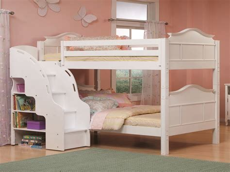 Kids Bookcase White White Bunk Beds With Stairs For Teen