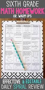 6th Grade Math Spiral Review  U0026 Quizzes