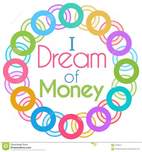 colorful money i of money colorful rings circular stock