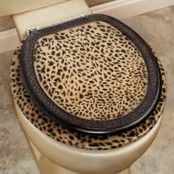 cheetah bathroom set toilet seat home interiors