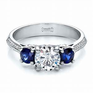 custom blue sapphire and diamond engagement ring 100116 With blue sapphire and diamond wedding rings