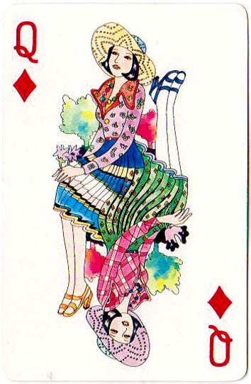 angel roaring  playing cards  queen
