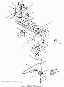 Mtd 14az808k131  2002  Parts Diagram For Pto Electrical  Battery  Frame